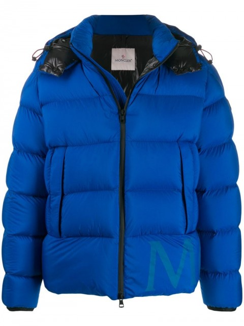Moncler - Wilms padded coat - men - Polyamide/Feather Down - 4, 6 - Blue