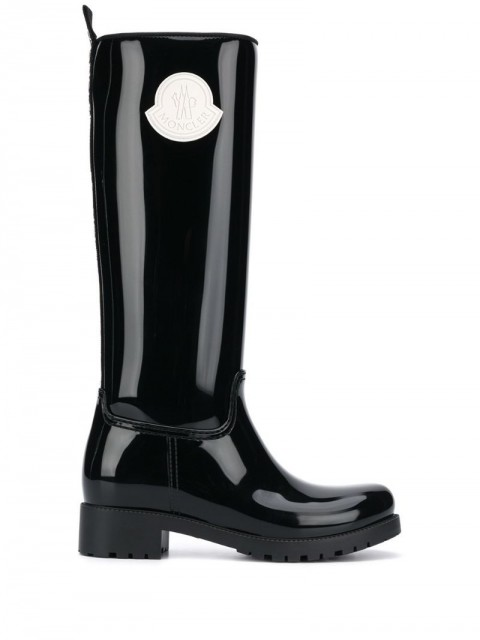 Moncler - Ginger Stivale wellies - women - Polyester/PVC/Rubber - 37, 39, 41 - Black