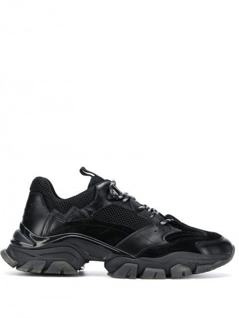 Moncler - Leave No Trace low-top sneakers - men - Leather/Rubber/Fabric - 40, 41, 42, 44, 45, 42.5, 43 - Black