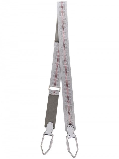 Off-White - industrial shoulder strap - women - Polyamide/Leather/Polyester - One Size - Grey