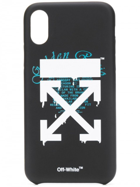 Off-White - Dripping Arrows iPhone XS case - unisex - PVC - One Size - Black