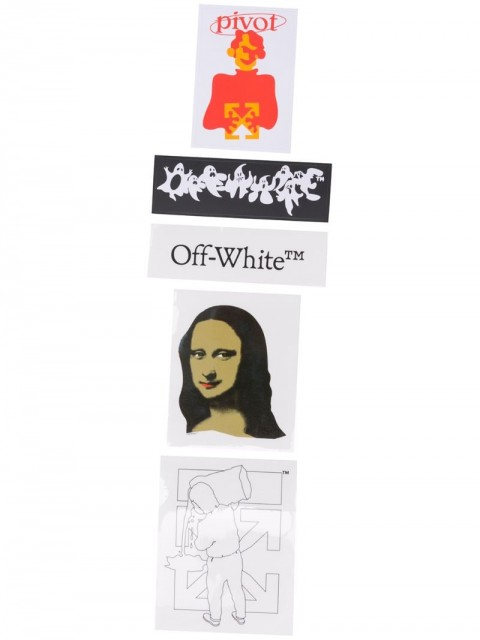Off-White - STICKERS SET - MONALISA BLACK WHITE - men - Paper - One Size - White