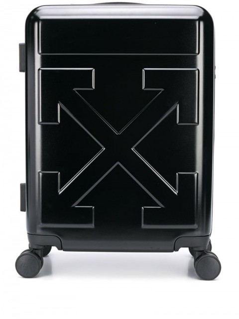 Off-White - Quote carry-on trolley - men - Polycarbonite - One Size - Black