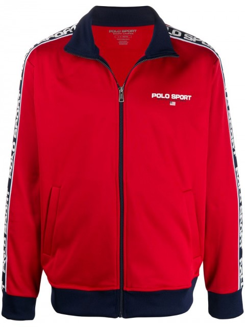 Polo Ralph Lauren - contrast panelled track jacket - men - Polyester - XL - Red