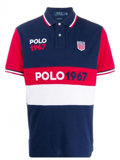 Polo Ralph Lauren - colour-block polo shirt - men - Cotton - M - Blue