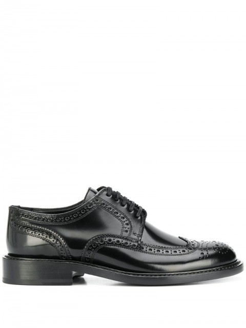 Saint Laurent - Army perforated derby shoes - women - Leather - 41 - Black