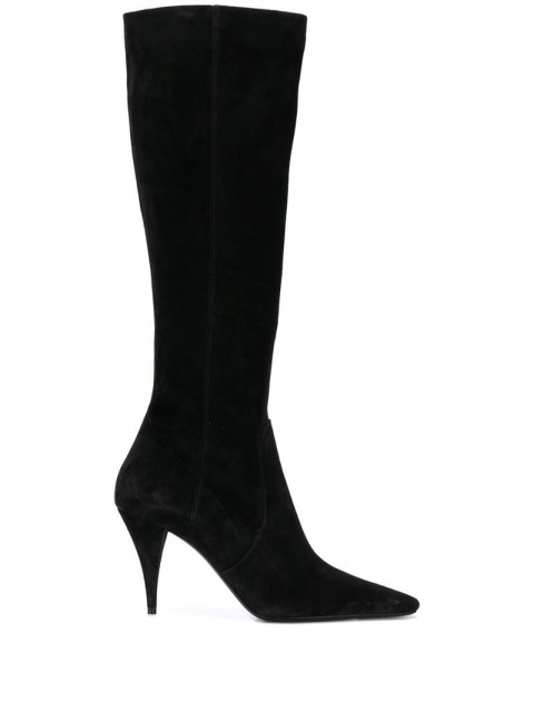 Saint Laurent - knee-high boots - women - Leather/Calf Suede - 35, 36.5, 37, 38 - Black