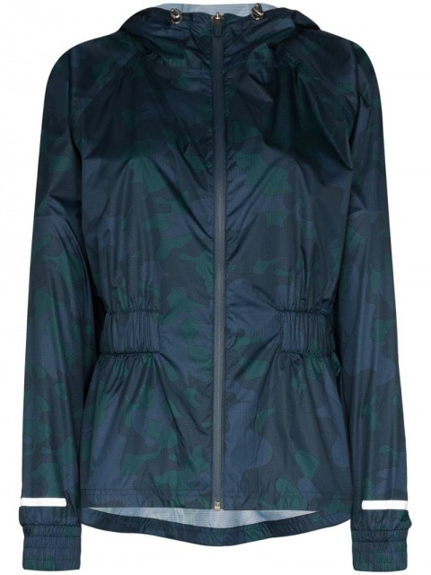 Sweaty Betty - Storm Seeker camouflage-print jacket - women - Polyester - XS, S, L - Blue
