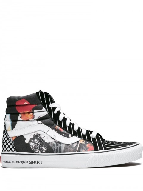 Vans - x Supreme x Comme des Garcons Sk8-Hi Reissue sneakers - men - Canvas/Rubber - 8 - Black