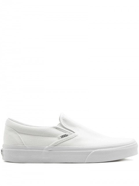 Vans - Classic slip-on sneakers - men - Rubber/Leather/Canvas - 4.5, 5.5, 6, 6.5, 7, 7.5, 8, 8.5, 10 - White