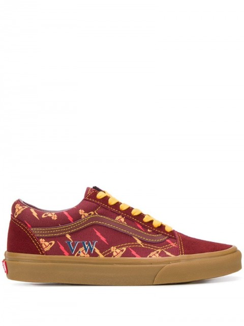 Vans - x Vivienne Westwood sneakers - women - Canvas/Polyester/Rubber - 4.5, 5.5, 6 - Red