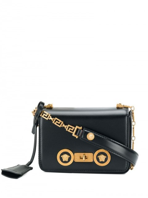 Versace - Greek Medusa shoulder bag - women - Calf Leather - One Size - Black