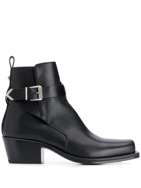 Versace - buckled ankle boots - men - Leather - 39, 40.5, 45, 46, 41, 44, 43 - Black