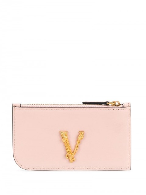 Versace - Virtus calf leather cardholder - women - Calf Leather - One Size - Black
