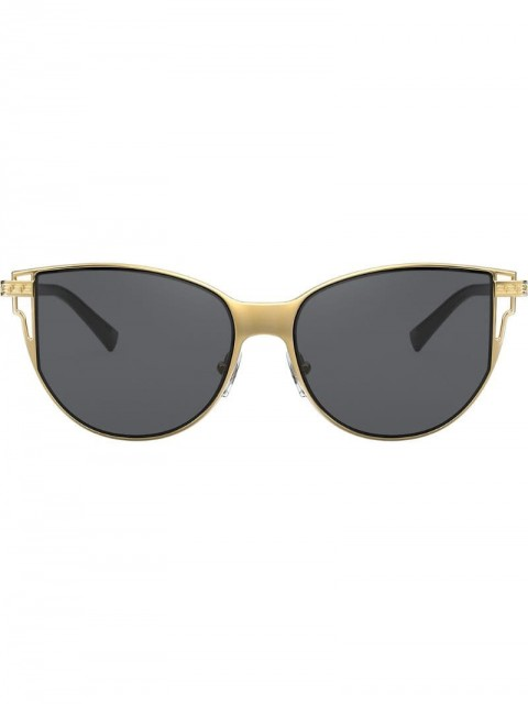 Versace Eyewear - oversized frame sunglasses - women - metal - 56 - GOLD