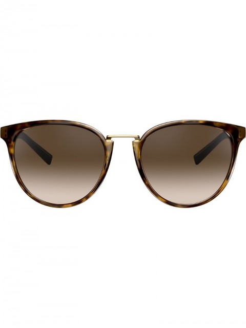 Versace Eyewear - round frame sunglasses - women - metal/Plastic - 54 - Brown