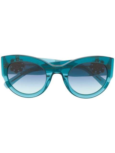 Versace Eyewear - cat-eye frame sunglasses - women - Acetate - 51 - Blue