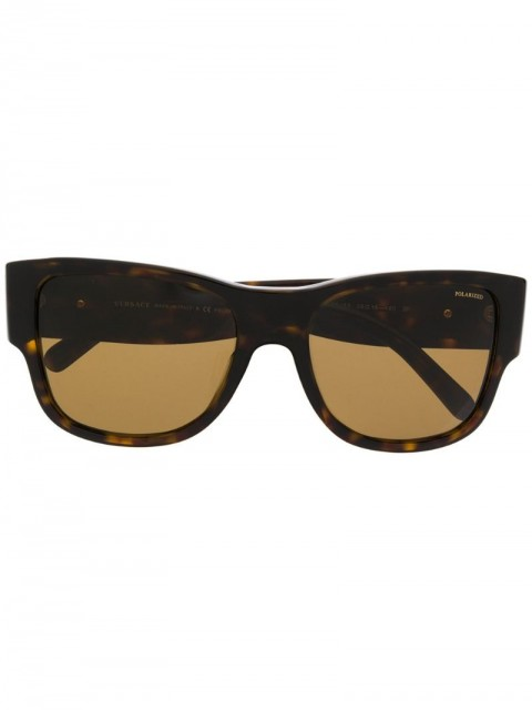 Versace Eyewear - polarized sunglasses - women - Acetate/Metal (Other)/WAX - 58 - Brown
