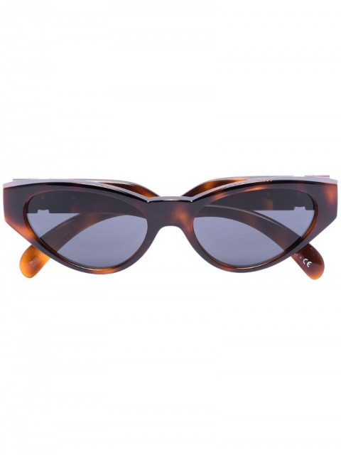 Versace Eyewear - Medusa Medallion cat-eye sunglasses - men - Acrylic/Acetate - One Size - Brown