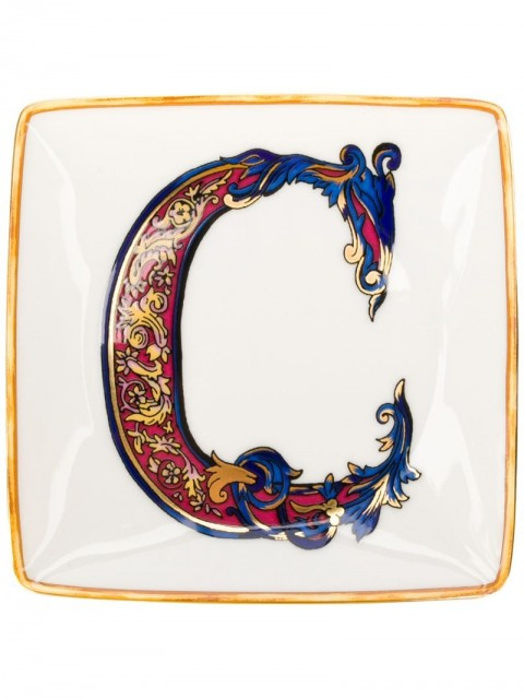 Versace Home - Alphabet 'C' plate (11cm) - women - - One Size - White