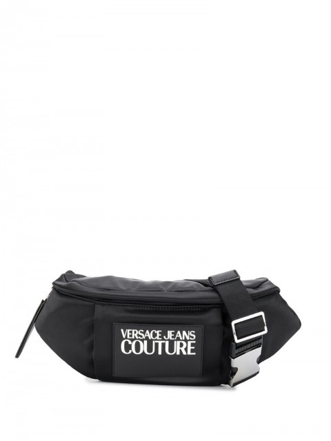 Versace Jeans Couture - contrast logo belt bag - women - Polyester/Polyurethane - One Size - Black