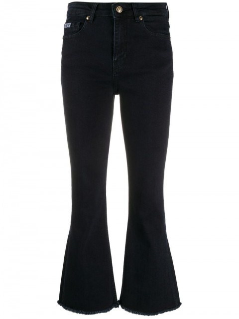 Versace Jeans Couture - high-rise flared jeans - women - Cotton/Spandex/Elastane - 26, 27, 28, 30, 31 - Blue