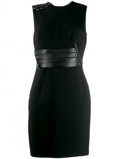 Versace Pre-Owned - '2000s fitted dress - women - Polyamide/Silk/Rayon/Spandex/Elastane - 42 - Black