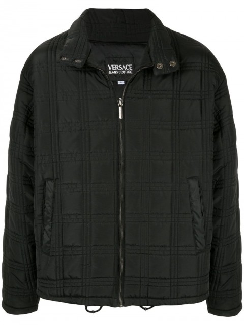 Versace Pre-Owned - Medusa button zip up jacket - men - Polyamide/Polyester - S - Black