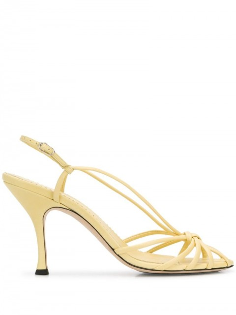 Victoria Beckham - strappy 100mm sandals - women - Leather/Rubber - 36, 37, 38, 39, 40 - Neutrals