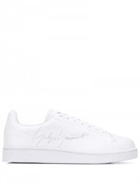 Y-3 - branded low-top sneakers - women - Leather/Polyester/Rubber - 10, 9, 9,5, 8,5, 10,5 - White