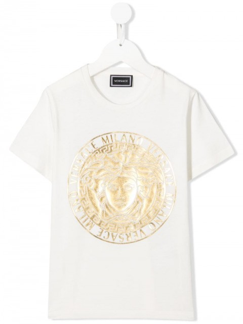 Young Versace - Medusa print T-shirt - kids - Cotton - 8 yrs - White