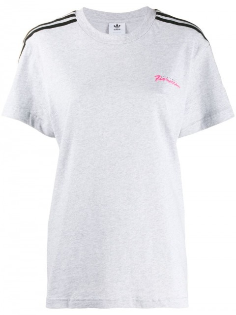 adidas - Fiorucci logo T-shirt - women - Cotton - S - Grey
