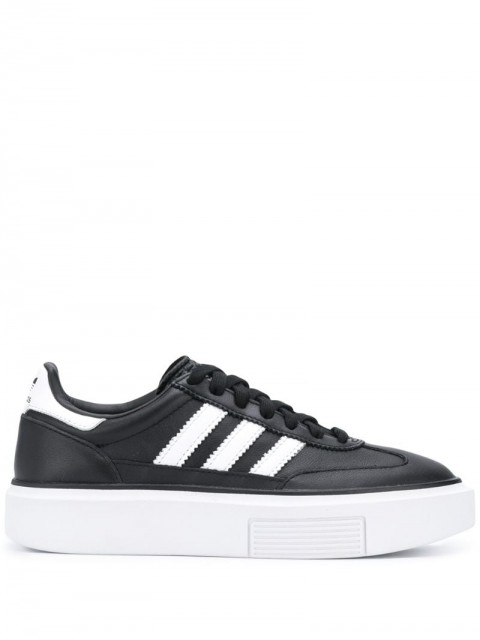 adidas - Sleek Super 72 low-top sneakers - women - Calf Leather/Leather/Rubber - 3.5, 4, 4.5, 6, 6.5, 7 - Black