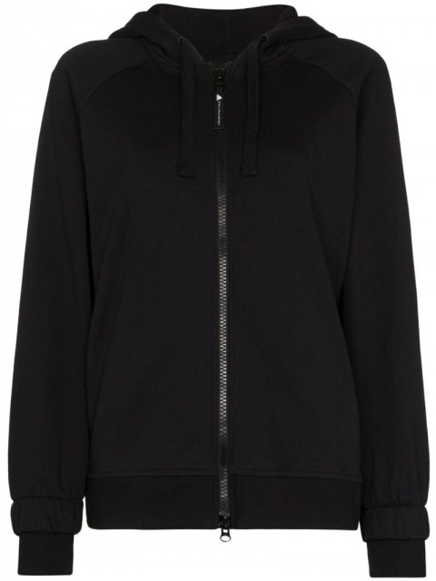 adidas by Stella McCartney - x Stella McCartney essentials hoodie - women - Cotton - S - Black