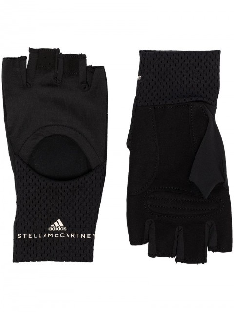 adidas by Stella McCartney - cut-out training gloves - women - Nylon/Polyester/Polyurethane/Recycled Polyester - M, L - Black