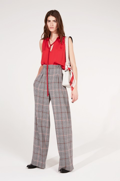 Prince of Wales Wide Leg Pant