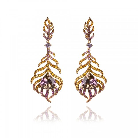 Tsar Feather Ametrine Earrings