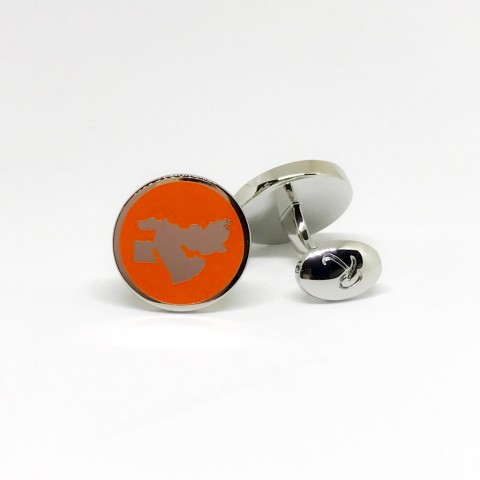 Reddendi Middle East Silver Cufflinks Orange