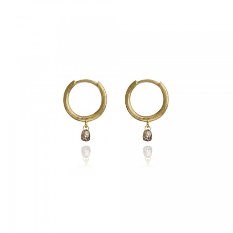 Hoopla Diamond 18ct Gold Hoop Earrings