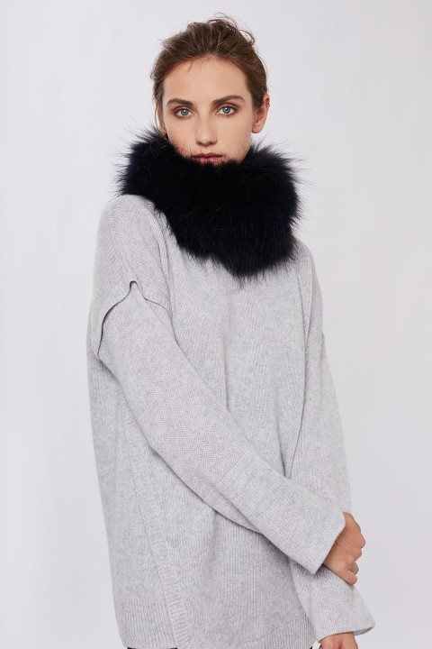 Ida Fur Midnight Raccoon Snood