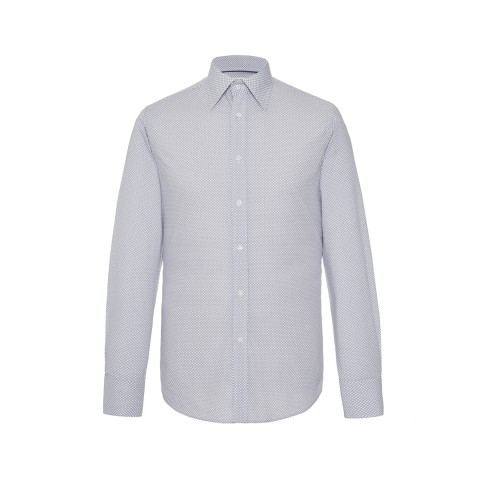 MR FISH Grey and White Reverse Polka Dot Shirt