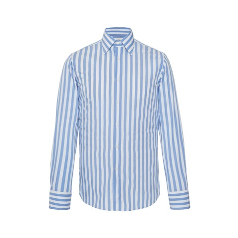 MR FISH Blue and White Bengal Stripe Shirt