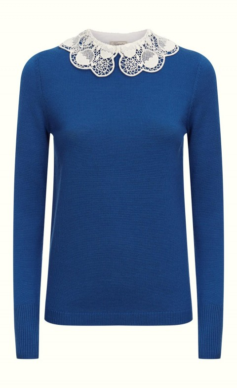 Bliss Collar Jumper French Blue