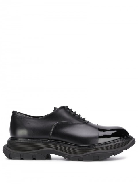 Alexander McQueen - chunky lace-up shoes - men - Leather/Rubber - 40, 42, 41, 44, 43 - Black