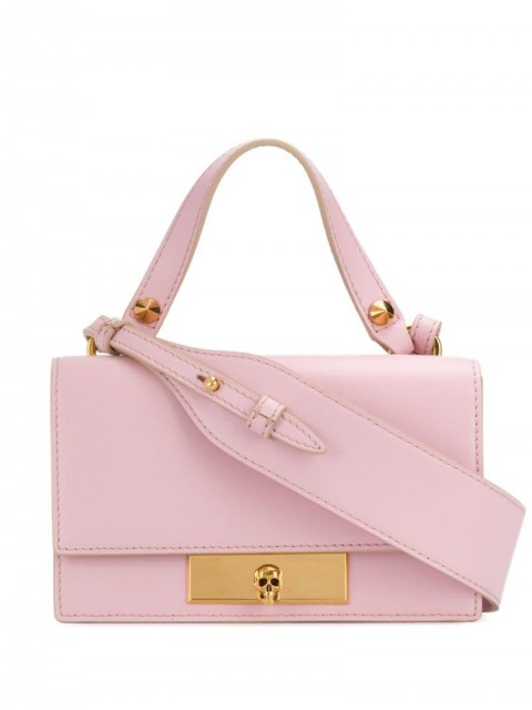 Alexander McQueen - Skull Lock mini bag - women - Leather - One Size - PINK