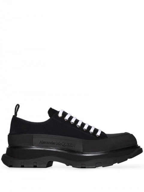 Alexander McQueen - Tread Slick lace-up sneakers - men - Polyamide/Rubber - 43, 42.5, 43.5, 44, 41, 42, 45, 40 - Black