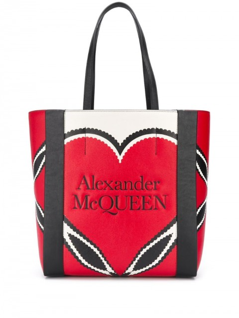 Alexander McQueen - Signature tote bag - women - Leather - One Size - Red