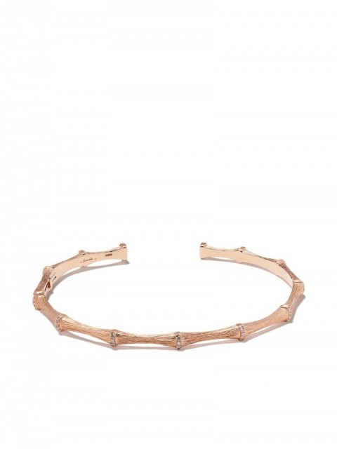 Annoushka - 18kt rose gold Dream Catcher Bamboo diamond cuff - women - Diamond/18kt Rose Gold - One Size - 18ct Rose Gold