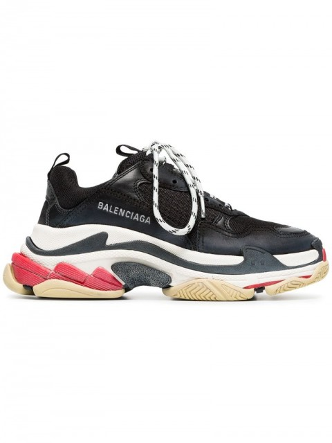 Balenciaga - Triple S lace-up sneakers - women - Leather/Polyamide/Rubber - 34, 35, 37, 39, 40, 41, 42 - Black