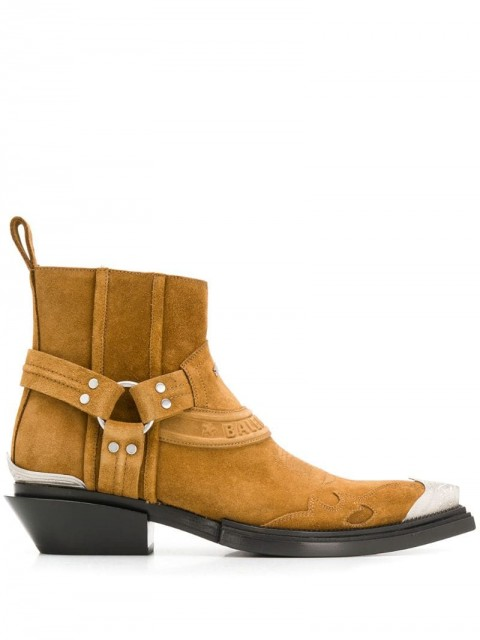 Balenciaga - Santiag Harness boots - women - Leather/Suede - 35, 36, 38, 40, 39, 37, 41, 36,5 - Brown